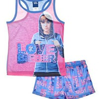 AME Sleepwear Girls 7-16 Justin Bieber Short Set