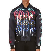 Juun.j Black Cant Knock The Hustle Bomber Jacket