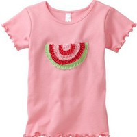 Love U Lots Girls 2-6X Ruffle Watermelon Baby Tee