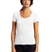 Splendid Women&#x27;s 1x1 Short Sleeve Scoop Neck Top