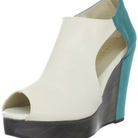 Cri de Coeur Women`s Nico Platform Pump,Cloud/Teal,6.5 M US