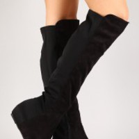Wild Diva Lounge Ireland-02 Knee High Wedge Boot