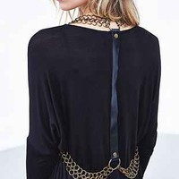 Pins And Needles Leather Chainmail Suspender - Urban Outfitters