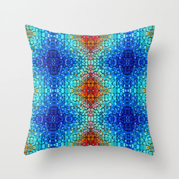 Inner Vision 2 Colorful Abstract by Sharon Cummings Throw Pillow by Sharon Cummings