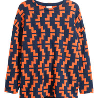 H&M - Knit Sweater - Orange - Ladies