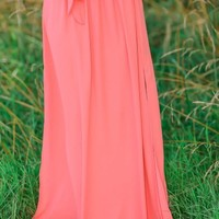 Practice Makes Perfect Skirt-Coral
