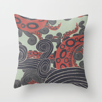 SEA ADVENTURE Throw Pillow by Nika