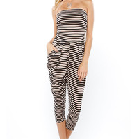 Papaya Clothing Online :: STRIPED GATHER JUMPSUIT