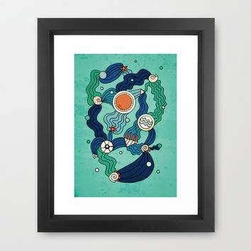The Aquatic Environment Framed Art Print by DuckyB (Brandi)