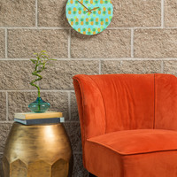 Lisa Argyropoulos Pineapples And Polka Dots Round Clock