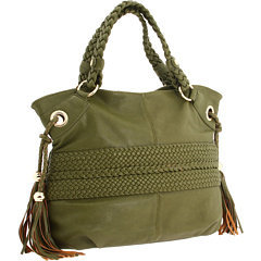 Melie Bianco Bella Braided Shoulder Bag Olive - 6pm.com
