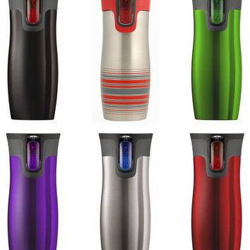 Push Button Travel Mug - West Loop Autoseal Mugs by Contigo (Vacuum Insulated) | Dining and Entertaining