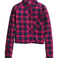 H&M - Plaid Shirt - Red/checked - Ladies
