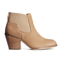 H&M - Leather Boots - Beige - Ladies