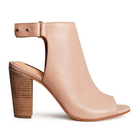 H&M - Leather Sandals - Light pink - Ladies