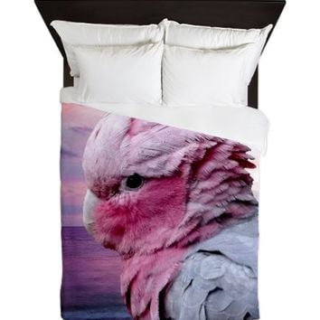 Galah Cockatoo Queen Duvet