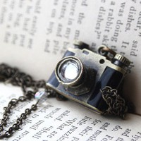 Camera Locket Necklace unique antique bronze locket by mydogandi