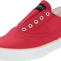 Sperry Top Sider Cameron Athletic Sneakers Shoes Red Womens