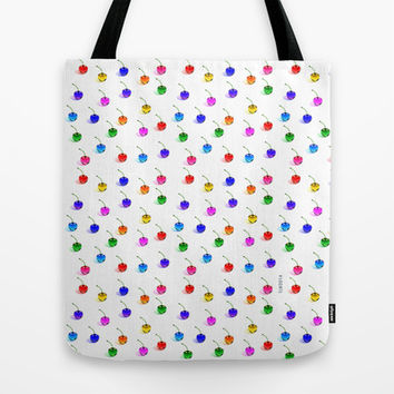 3D Glass Rainbow Cherries Pattern - Tote Bag by THE-LEMON-WATCH