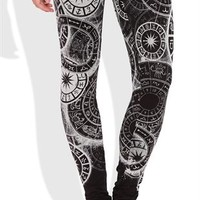 Astrology Print Leggings