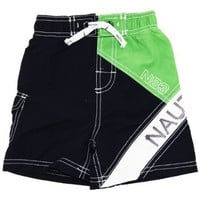 Infant Boy`s Green Swim Shorts/Swimwear - Nautica