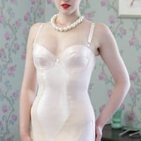 What Katie Did L3007 Glamour Shape Wear Vintage Peach Corselette