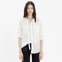 Tie-Neck Blouse in Sheerdrop