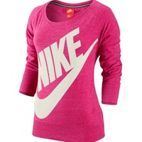 Nike Women's Gym Vintage Crew Quarter Length Shirt