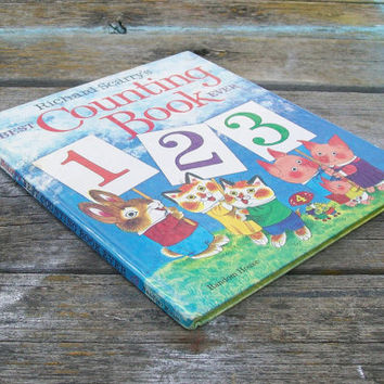 Vintage book Richard Scarry's Best Counting Book Ever 1975
