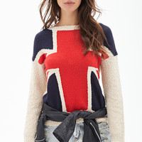 Marled Union Jack Sweater