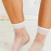 Dot Pop Socks in White - Urban Outfitters