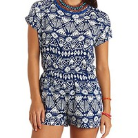TIE-BACK TRIBAL PRINT ROMPER