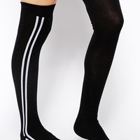 ASOS Side Stripe Over The Knee Socks at asos.com