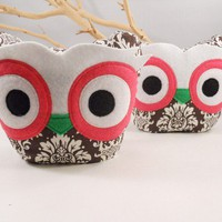 2 bellamina's owl bookends / doorstops / by karensagez on Etsy