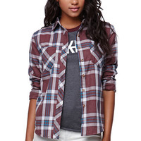LA Hearts Burnout Plaid Shirt at PacSun.com