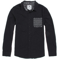 On The Byas James Printed Pocket Long Sleeve Woven Shirt at PacSun.com