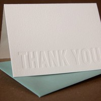 Impression Modern Block Thank You Notes package of by rubypress