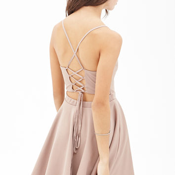 Crisscross Tie-Back Dress
