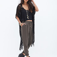 FOREVER 21 Pleated Woven Pants Olive