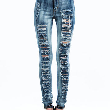 Destroyed Stone Washed Jeans