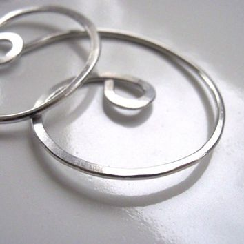 Swirl Hoop Earrings Lightweight Aluminum 16 gauge earrings