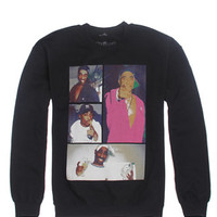 Bioworld Tupac Collage Crew Fleece - Mens Hoodie - Black -