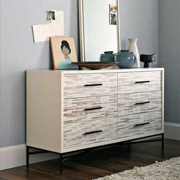Wood Tiled 6-Drawer Dresser | west elm