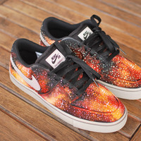 Custom Hand Painted Nike SB P-Rod 7 Solar Flare Galaxy Sneakers