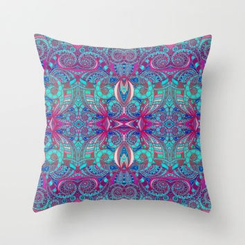 Indian Style G238 Throw Pillow by MedusArt