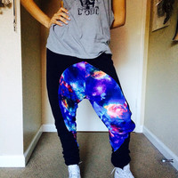 Unisex GOIN HAM Galaxy Harem Drop Crotch Sweatpants Limited Edition - Skinny Sweats Xsmall Small Medium or Large