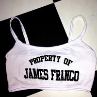 SWEET LORD O'MIGHTY! PROPERTY OF JAMES FRANCO BRALET IN WHITE