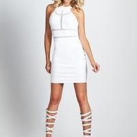 Monaco Mesh-Insert Sleeveless Body-Con Dress | GUESS.com