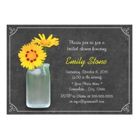 Simple Daisy & Mason Jar Chalkboard Bridal Shower