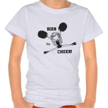 Born to Cheer Girl's Jersey Shirt